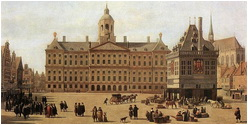 Royal Palace of Amsterdam painting