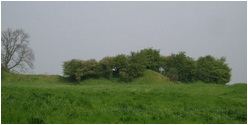 Castle mound at Laxton Nottinghamshire