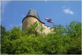 Karlstein Castle Tower Flag