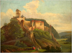 Karlstejn castle painting
