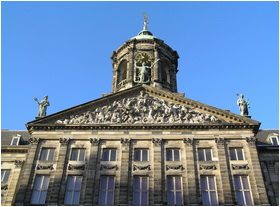 Royal Palace of Amsterdam detail