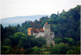 View of Bran Castle Romania